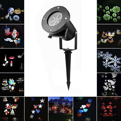 12 Patterns Outdoor Xmas Moving LED Laser Projector Landscape Christmas Light