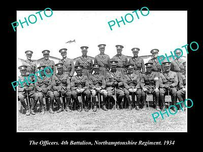 OLD HISTORIC MILITARY PHOTO OF NORTHAMPTONSHIRE REGIMENT, 4th BATTALION 1934