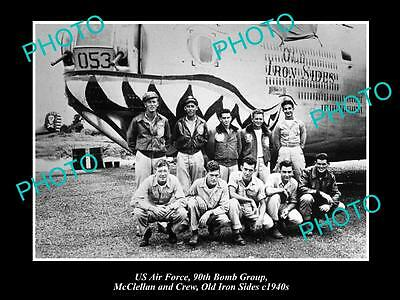 OLD LARGE HISTORICAL PHOTO OF US AIR FORCE 90th BOMB GROUP, OLD IRON SIDES c1940