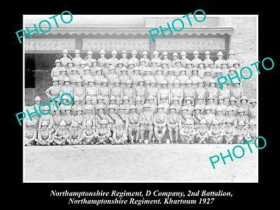 OLD HISTORIC MILITARY PHOTO OF NORTHAMPTONSHIRE REGIMENT, 2nd BATTALION 1927