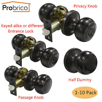 Entrance Passage Privacy Dummy Handle Lock sets Flat Ball Round Door Handles