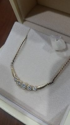 Diamond necklace in solid 9k 9ct gold