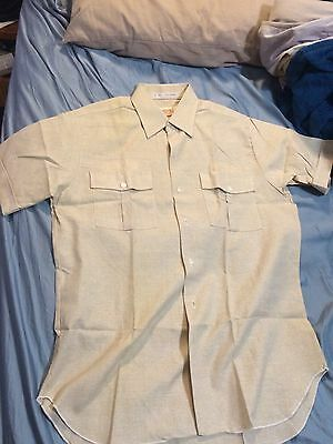 Vintage Safari Suit Shirt Size L Large Mens