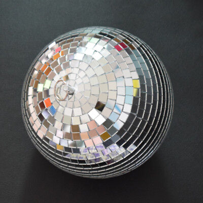 Large 20cm Mirror Glass Disco Ball DJ Dance Home Party Band Club Stage Lightning