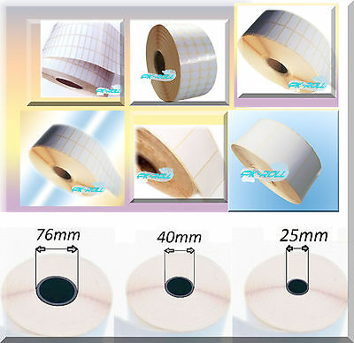 White Stickers Self Adhesive Address Thermal Transfer Printer Labels Rolls