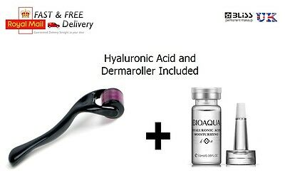 DERMAROLLER and Hyaluronic Serum Kit Set, Numbing, Skin Roller Anti Wrinkle
