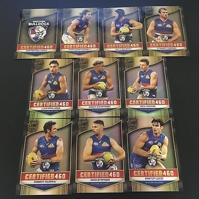 2017 Select Certified - 19 Card 'Certified 460' Team Lot - Western Bulldogs