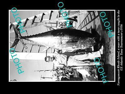 Old Large Historic Photo Of Narragansett Rhode Island, 1956 Tuna Tournament 1