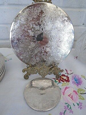 Gorgeous Elegant Set Of 8 Vintage Silver Plated Place Mats & 8 S/p Coasters