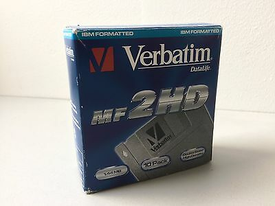 NEW !!! Verbatim MF 2HD IBM Formatted  Disks 1.44MB 10 PACK !!!