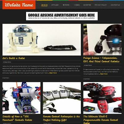 REMOTE CONTROLLED WEBSITE - Professionally Designed Affiliate Website Business
