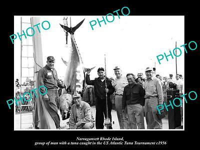 Old Large Historic Photo Of Narragansett Rhode Island, 1956 Tuna Tournament 2