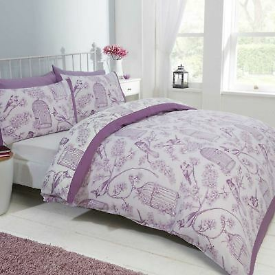 Bird Cage Bright Shabby Chic Duvet Cover Duck Egg Mauve