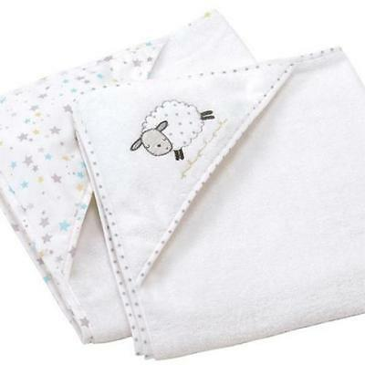 Silvercloud Baby Hooded Robe Towel Hood Counting Sheep Cuddle - 2 Pack