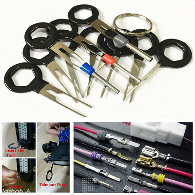 Terminal Removal Tool Wiring Crimp connector Pin Release Extractor Puller11pcs