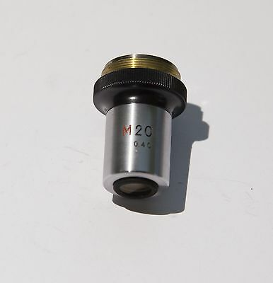 Nikon M 20x Microscope Metallurgical Objective tested, excellent