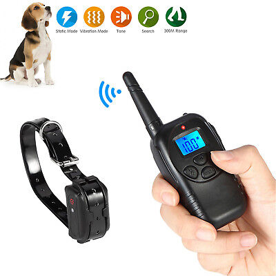 Waterproof Vibra Pet Dog Training Collar Rechargeable Electric LCD 100LV Shock