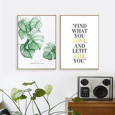 Leaves Motivational Canvas Poster Minimalist Wall Art Prints Modern Home Decor