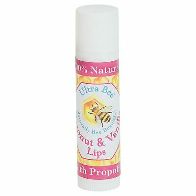 100% Natural Beeswax Lip Balm Honey, Vanilla & Coconut 4.3g