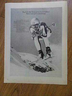 1969 U S Ski Team Ad  Team Gives it Everything Won't You Give Something
