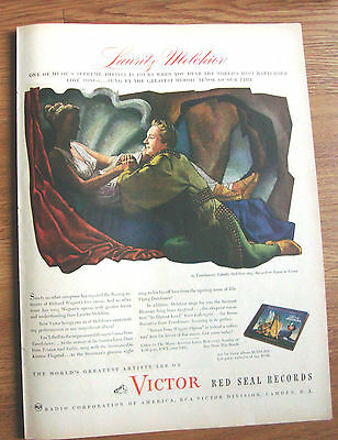 1945 RCA Victor Red Seal Records Ad  Lauritz Melchior
