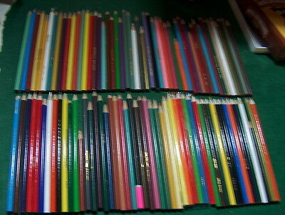 Lot of approx 100 COLORED PENCILS - crayola, crazi art, others            8/9A
