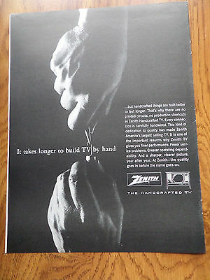 1964 Zenith TV Television Ad Handcrafted