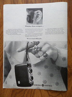 1969 GE General Electric Radio Ad Mini-Swinger 1969 Ad 1st City Travelers Checks