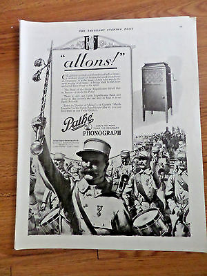 1920 Pathe Phonograph Ad   Allons   Pathe Freres Phonograph Co
