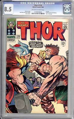 Thor # 126  Whom the Gods Would Destroy !   CGC 8.5 scarce book !