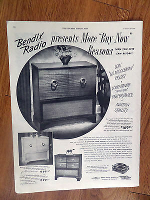 1949 Bendix Radio Phonograph Ad
