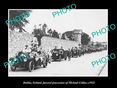 Old Photo Of Dublin Ireland, Funeral Of Irish Leader Michael Collins 1922 1