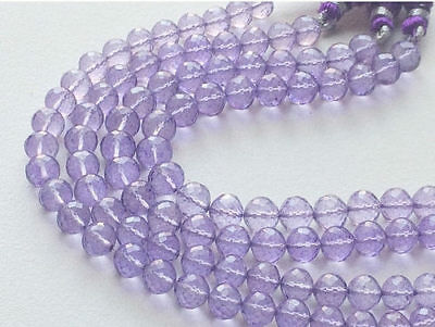 """8"""" Strand Crystal Quartz, Coated Crystal Round Bead, Micro Faceted Crystal Quart"""