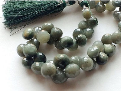 52 Carat 12 Pcs Cats Eye Gems, Faceted Cats Eye Onion Briolettes, Cats Eye Beads
