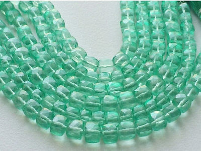 """4"""" Strand Crystal Quartz Beads, Micro Faceted Crystal Quartz Cube Coated Beads"""