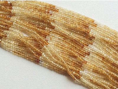 """14"""" Strand AAA Citrine, Faceted Citrine Beads, Citrine Rondelles Beads Necklace"""
