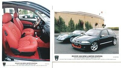Rover 200 BRM x 2 Original 1997 colour Press Photographs Pub. Nos. 893 & 895