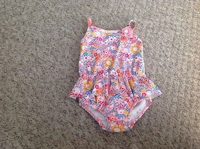 baby girls swim costume with built in swim nappy age 9-12 months
