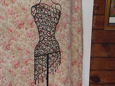 Dress Form Antiqued Boutique Wire Mannequin vintage art style display clothing
