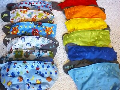 Lot 12 NEW Ecoable charcoal bamboo cloth diapers & 12 charcoal bamboo inserts
