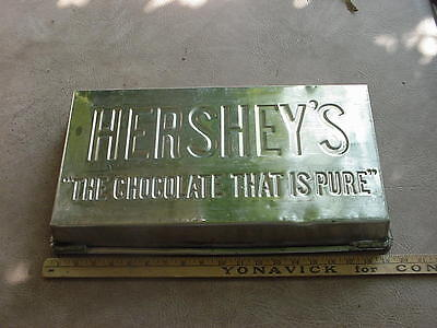 Large Vintage Hersheys Pure Chocolate Candy Mould Pan, Stainless Steel, Nice
