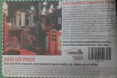 4 x legoland tickets kids go free @ manchester only