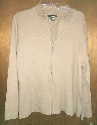Eddie Bauer Men's Long Sleeve Zippered Jacket Size 2X