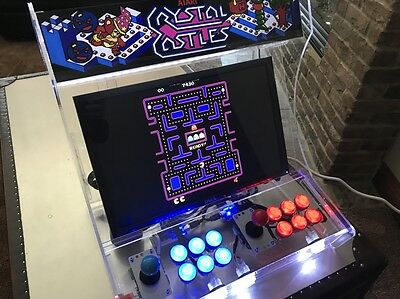 Bartop Clear Acrylic Arcade System.  2 player, changeable marquee etc