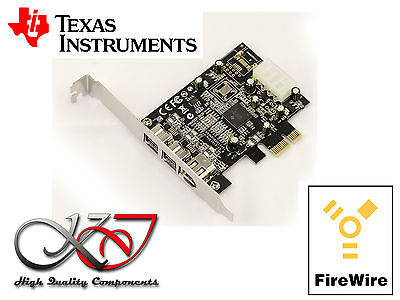 Carte PCIE FIREWIRE 400 + 800 IEEE1394 A+B PUCE TEXAS INSTRUMENTS Compatible MAO