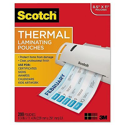 NEW! Scotch Thermal Laminating Pouches - Letter - 200 Pack
