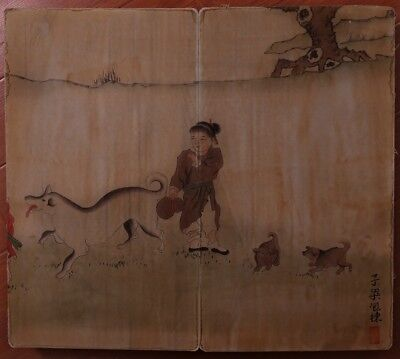Excellent Old Chinese Hand Painting Characters Book Mark ZiLiangBaoDong KK586