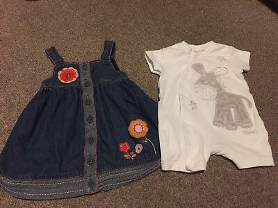 0-3 Girls Dress & Shorty All In One NEXT & Pumpkin Patch