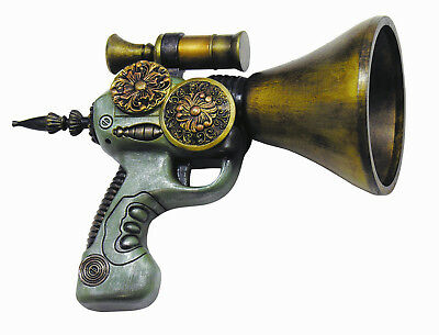 Gold Detailed Steampunk Funnel Trigger Space Gun Toy Costume Accessory