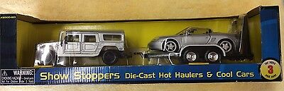 Maisto Show Stoppers Hot Haulers & Cool Cars HUMMER W/ PORSCHE BOXSTER